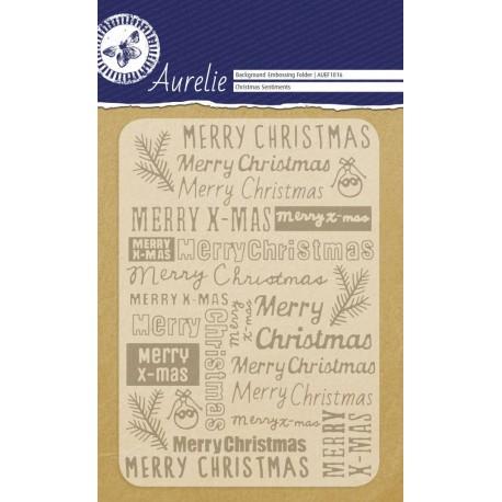 Carpeta de Relieve - Christmas Sentiments