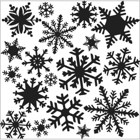 "Template 12x12"" - Flurries"