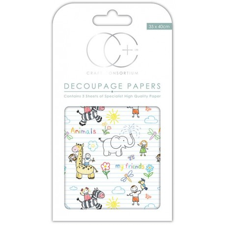 Papeles decoupage Kids Friends