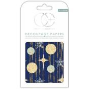 Papeles decoupage Blue stars